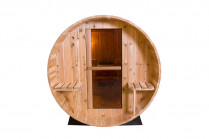 Barrel Sauna | Fonteyn Rustic 7+1 Ft. | Buitensauna | Red ceder hout | Unieke vorm